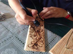 pyrogravure bois