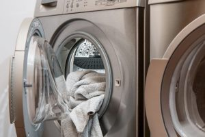 machine à laver en bois